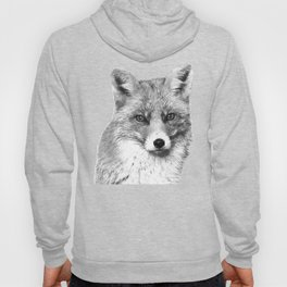 Black and White Fox Hoody