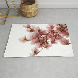 Magnolia tree, pretty pink blooms Rug