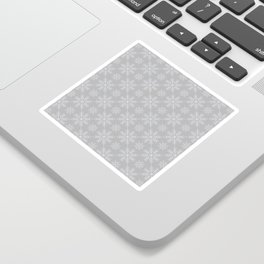 Snowflakes on Gray Sticker