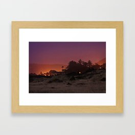 Gold Beach At Night Framed Art Print
