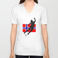 norway V-neck T-shirts featuring Norway - WWC by Alrkeaton