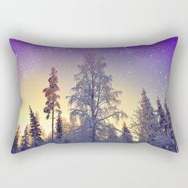 Walking under the stars Rectangular Pillow