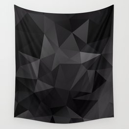 Abstract of triangles polygo in black colors Wall Tapestry