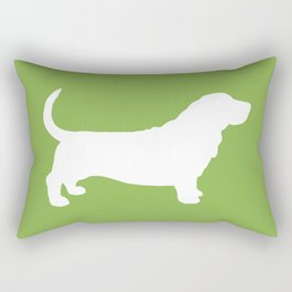 Basset Hound Silhouette(s) Rectangular Pillow