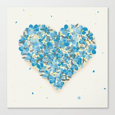 forget-me-nots heart Canvas Print