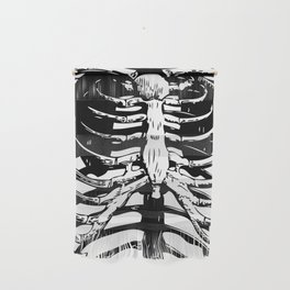Skeleton Ribs   Black and White Wall Hanging