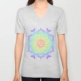 Rainbow Zelda Mandala Unisex V-Neck