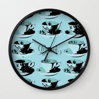 drink Wall Clocks featuring Drink by Sheridan Designs