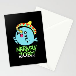 Narwhal Jose Sombrero Sea Unicorn Whale Stationery Cards