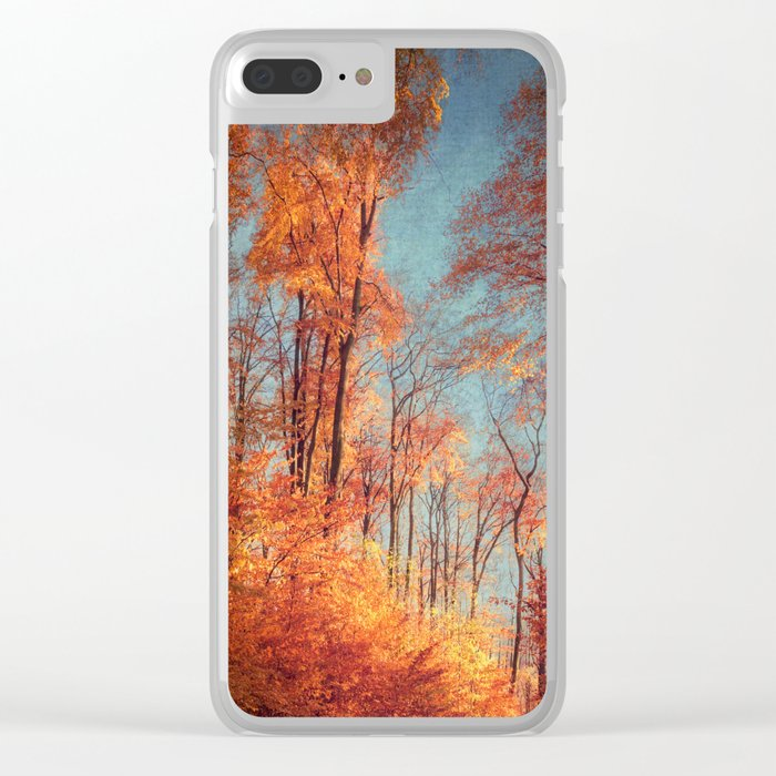 November Flames Clear iPhone Case