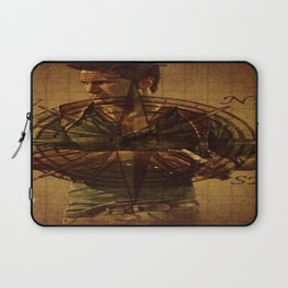 Compass of Uncharted Lands Laptop Sleeve