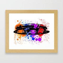 TURTLE SPLATTER Framed Art Print