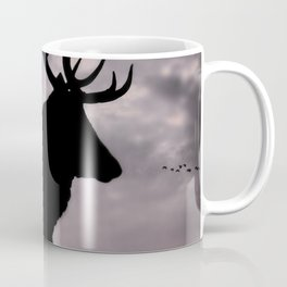 Stag And Sunset 2 Coffee Mug