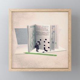 The grid filler Framed Mini Art Print