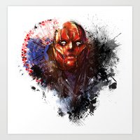 red hood Art Prints featuring Red Hood by Vincent Vernacatola