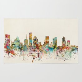 houston texas skyline Rug
