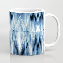 Blue Satin Shibori Argyle Coffee Mug