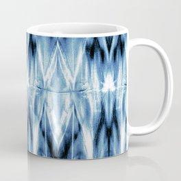 Blue Satin Shibori Argyle Coffee Mug