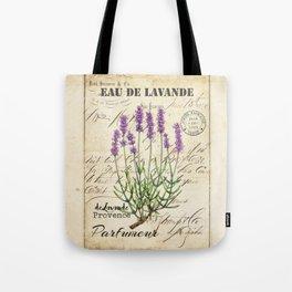 Lavender Antique Rustic Flowers Vintage Art Tote Bag