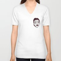 angelina jolie V-neck T-shirts featuring ANGELINA JOLIE by Fillipa Lara