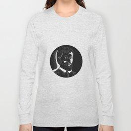 Hernando de Soto Explorer Circle Woodcut Long Sleeve T-shirt
