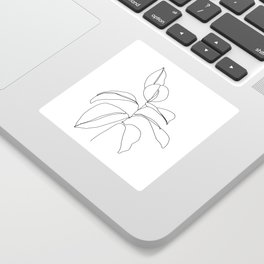 Flora - minimal line drawing Sticker