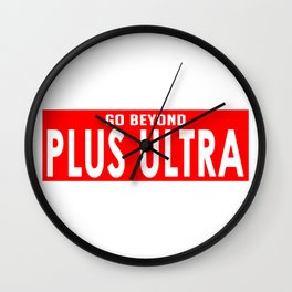 Plus Ultra Banner Wall Clock