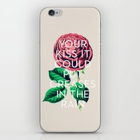 kiss iPhone & iPod Skins featuring Kiss by Heart of Hearts Designs