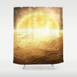 Moon Sunrise Shower Curtain
