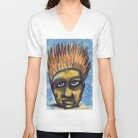 indonesia V-neck T-shirts featuring Surf's Up ~ Indonesia Art by Ali by FiVe