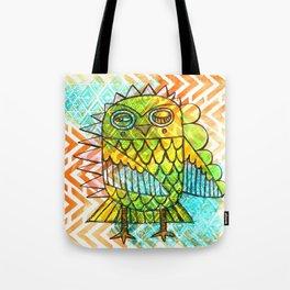 Oslauf the Owl - multicolored Tote Bag