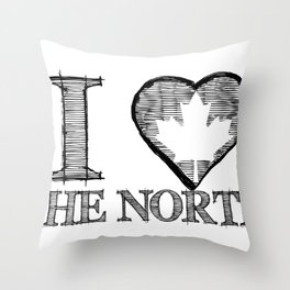 I Heart North Throw Pillow