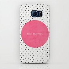 PINK HELLO BEAUTIFUL - POLKA DOTS Slim Case Galaxy S8