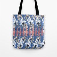rocket Tote Bags featuring Rocket by AnnaW