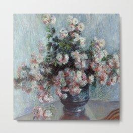 "Claude Monet ""Chrysanthemums"", 1882 Metal Print"