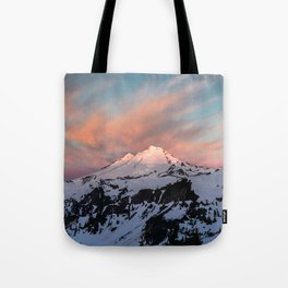 Mount Baker Mountain Adventure Sunset - Nature Photography Tote Bag