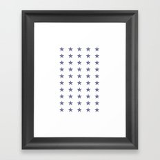50 Blue Stars Framed Art Print