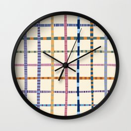 Colorful Patterned Grid Wall Clock