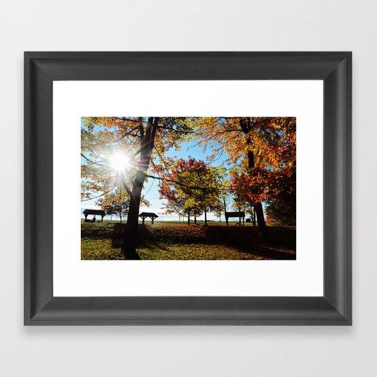 Autumnal sunshine Framed Art Print