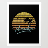 paradise Art Prints featuring Paradise by Anthony Troester
