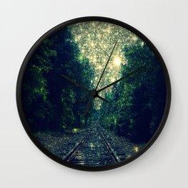 Dreamy Train Tracks Wall Clock