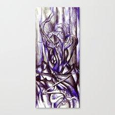 Squid on a desk Canvas Print