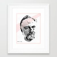 phil jones Framed Art Prints featuring Phil by Aaron Synaptyx Fimister