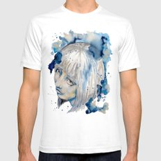 Nieves watercolor portrait by carographic Mens Fitted Tee SMALL White