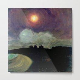 The Killing Moon nighttime beach landscape by Gustaw Gwozdecki Metal Print