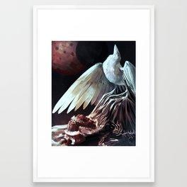 The White Raven Framed Art Print