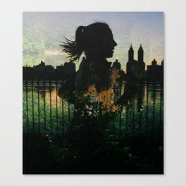 Central Park running Canvas Print