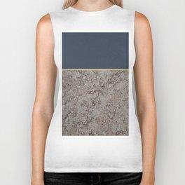 Blue Meets Brown Gray Concrete #1 #decor #art #society6 Biker Tank