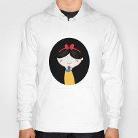 snow white Hoodies featuring Snow white by Maria Jose Da Luz