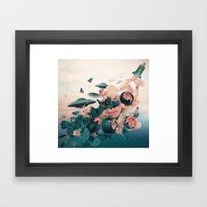 Watermelon&Black cock Framed Art Print